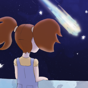 Illustration comète par Justine Petitjean
